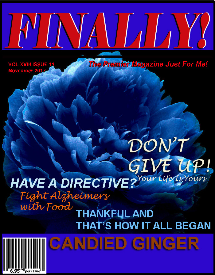 FINALLY! MAGAZINE The Premier Magazine Just For You! Gen X magazine, Baby boomers, Senior Citizens